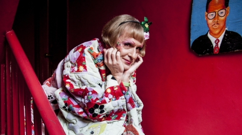 Image of Grayson Perry, who won the Turner Prize in 2003, as Claire