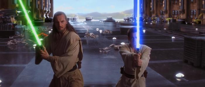 """Stop complaining Obi-Wan, you can't even hold you lightsabre properly."""